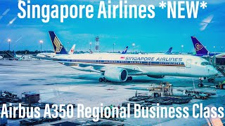 *NEW* Singapore Airlines Business Class | Airbus A350 Regional | Jakarta to Singapore | SQ965