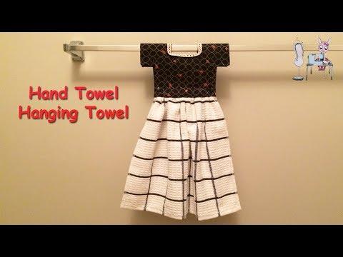 DIY KITCHEN TOWEL   Hanging Hand Towel   Hanging Dish Towel    Tutorial