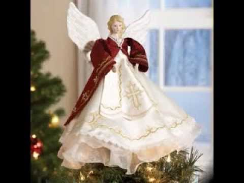 Angel christmas tree topper decorating ideas - YouTube