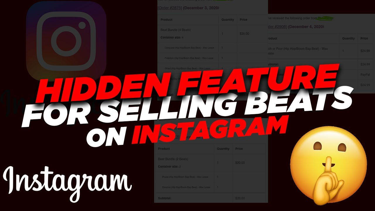 Selling Beats on Instagram (hidden feature) + how I send beats