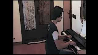 Titanic cartoon al piano