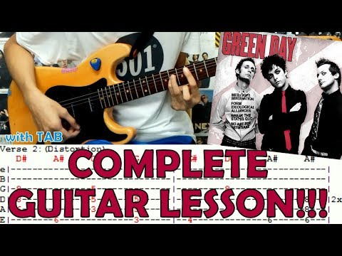 Basket Case - Green Day(Complete Guitar Lesson/Cover)with Chords and ...