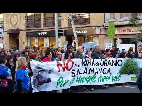 Manifestación en Salamanca contra la mina de uranio