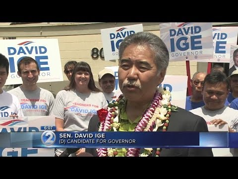 David Ige files as Democratic candidate in gubernatorial race