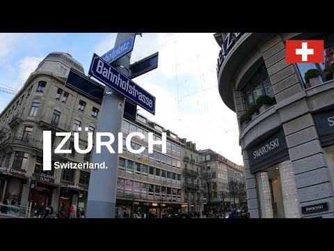 Zürich Switzerland Bahnhofstrasse most expensive street