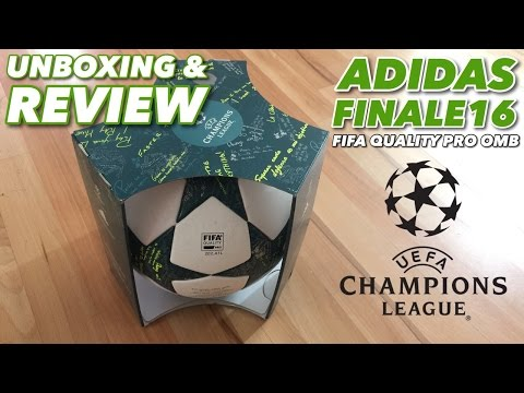 ADIDAS FINALE16 OMB UCL 2016/2017   UNBOXING & REVIEW  