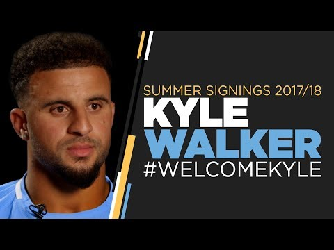 KYLE WALKER SIGNS FOR MAN CITY | FIRST INTERVIEW
