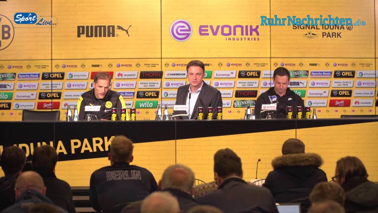 Pressekonferenz BVB - Hertha BSC 1:1 vom 14.10.2016