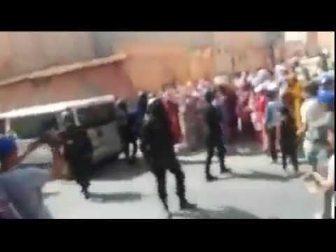 لحظة اعتقال متهم بالانتماء لداعش بكليميم