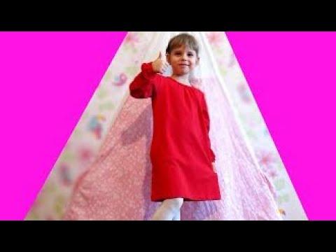 Выбрали красное платье для девочки на осень