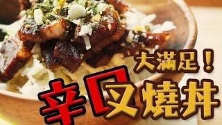 辛口叉燒蓋飯   叉燒飯   チャーシュー丼   char siew rice   chashu don