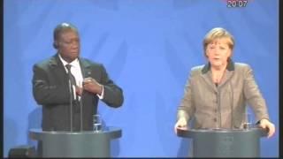 Fin du séjour allemand du Président Ouattara où il a été reçu par la chancelière A. Merkel