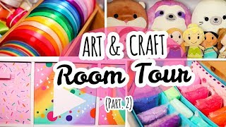 Art Room Tour | Art. Crafts. Squishies. (Pt. 2)