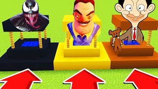 Minecraft : Do Not Choose The WRONG WELL!(VENOM,HELLONEIGHBOR , MRBEAN)(PS4/XboxOne/PE/MCPE)