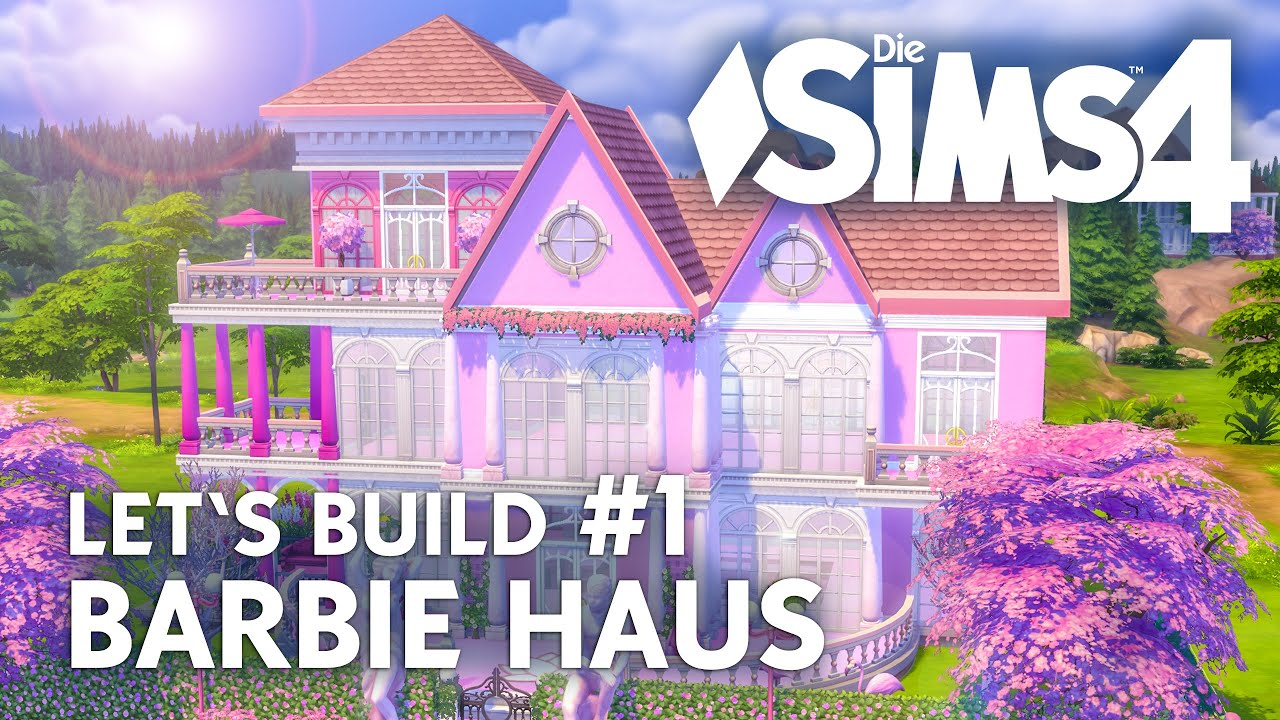die sims 4 let 39 s build barbie haus 1 grundriss bauen deutsch youtube. Black Bedroom Furniture Sets. Home Design Ideas