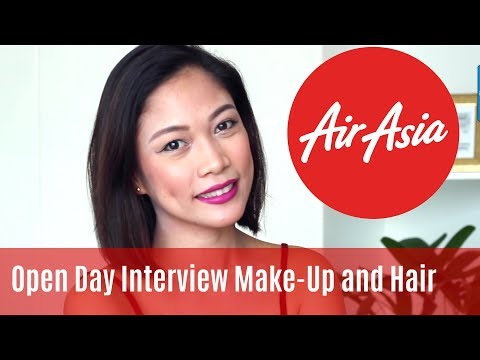 Air Asia Cabin Crew Open Day Interview Make-up and Hair  MISSKAYKRIZZ (Philippines) Taglish Tutorial