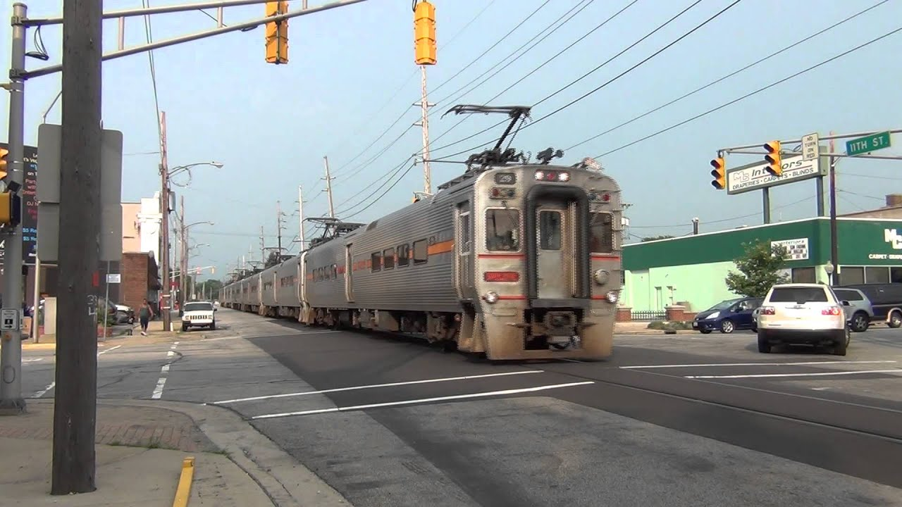 South Shore Line Street Running In Michigan City In Youtube