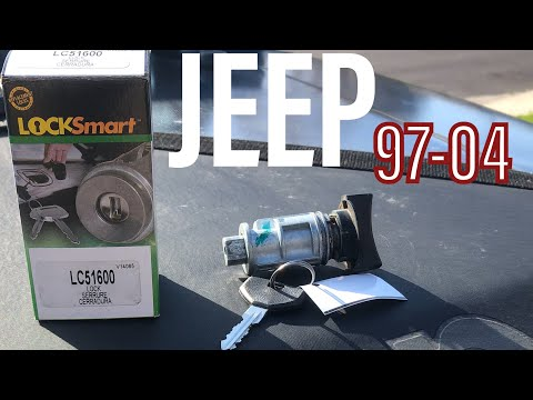 How To Remove Ignition Lock Cylinder & Replace 97-2006 JEEP Wrangler $24 TJ YJ XJ LC51600 Lock Smart