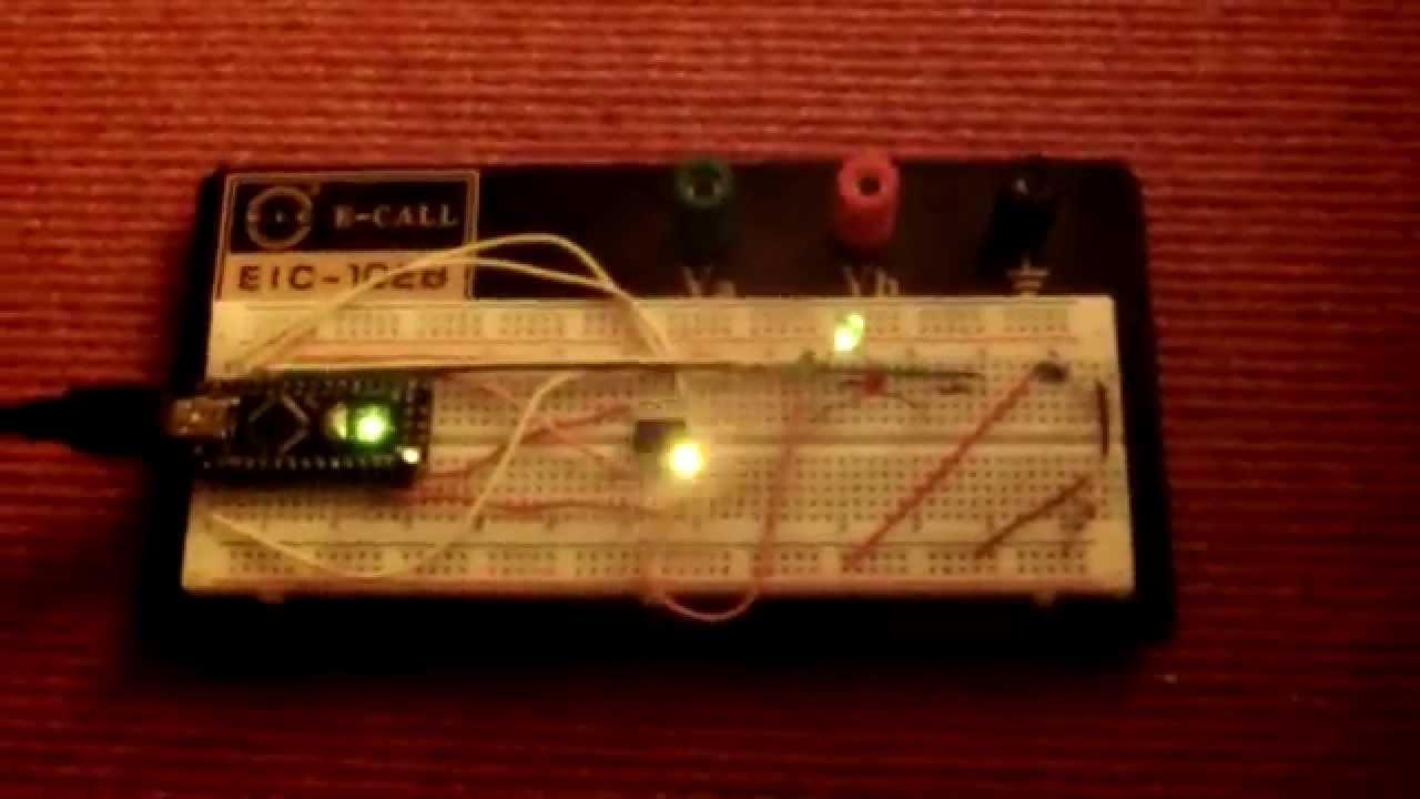 Arduino nano isp attiny blink sketch youtube