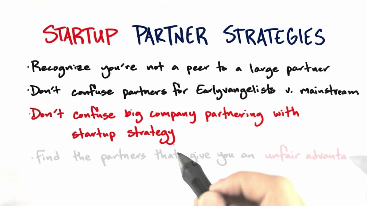 Startup Partner Strategies Summary - How to Build a Startup