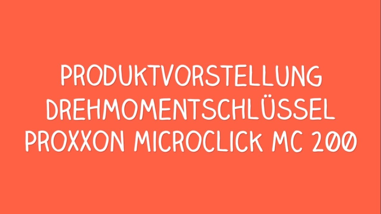 proxxon microclick mc 200 drehmomentschl ssel youtube. Black Bedroom Furniture Sets. Home Design Ideas