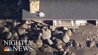 California Mudslides: Death Toll Increases | NBC Nightly News