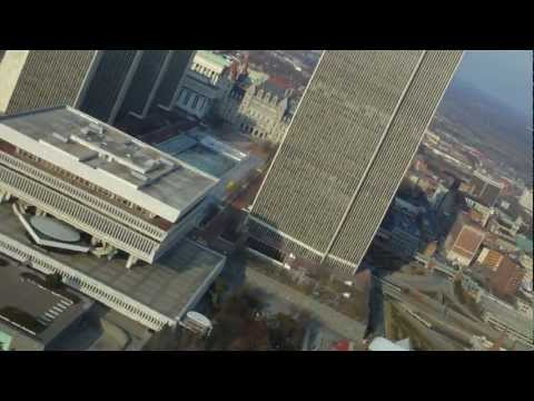 City of Albany, Capital of NY; RC Plane Flight with Onboard HD Camera