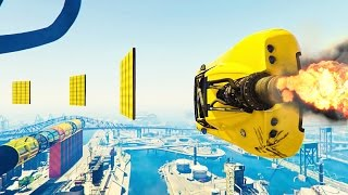 INVISIBLE ROCKET WALLRIDE! - GTA 5 Funny Moments #685