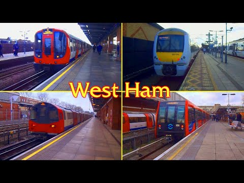 West Ham Station : Underground , National Rail and DLR ( London )