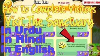 Hay Day How to Complete Have 3 Town Visitors Visit Sanctuary Seasonal Goal In Urdu   Hindi   English screenshot 4