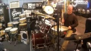 ONE-HANDED ROLL COMBOS AROUND DRUMS and Other Clinic Highlights