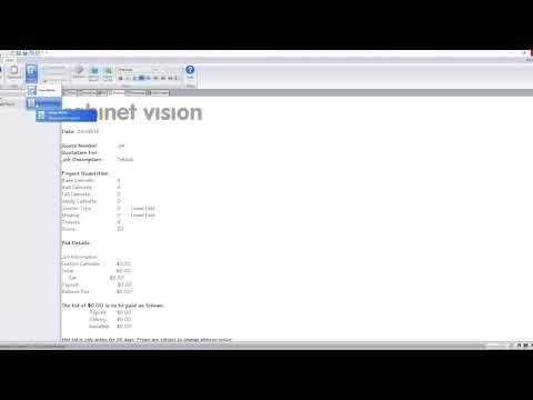 What's New in Cabinet Vision Version 11 - Bid Center