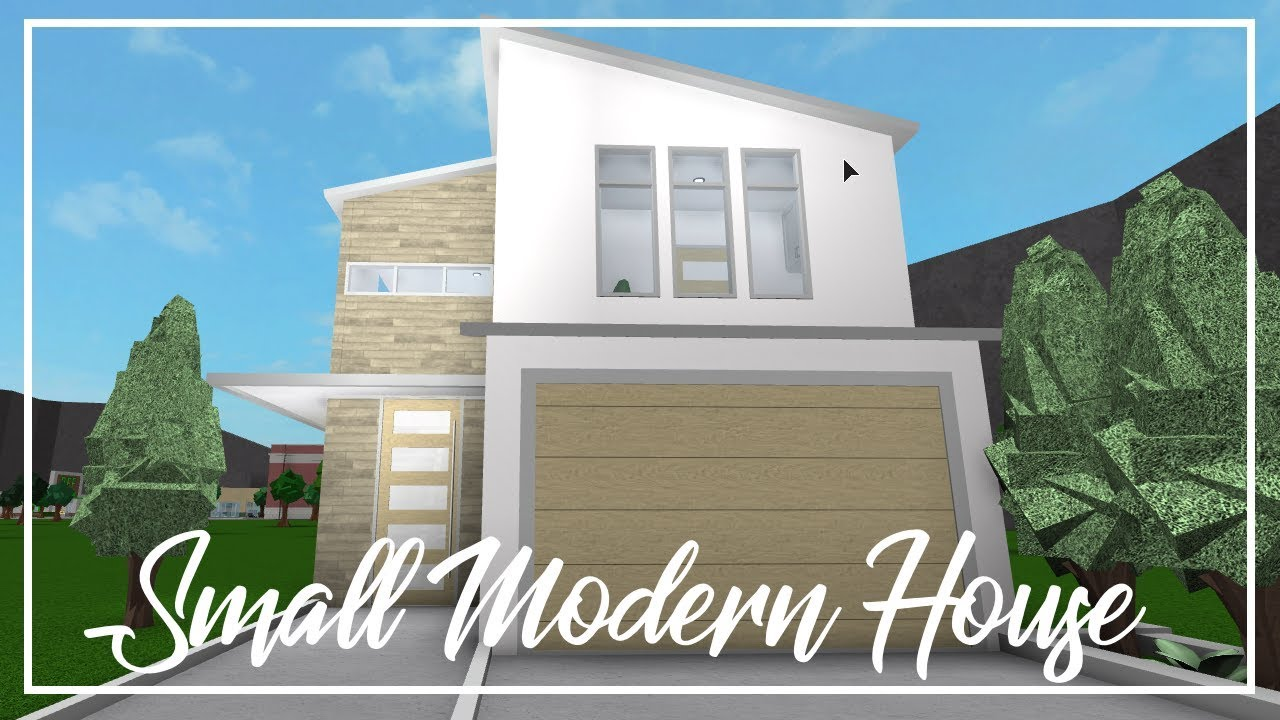 Roblox welcome to bloxburg small modern house youtube for Cheapest 2 story house to build