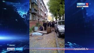 В Пензе молодой парень упал с четвертого этажа вместе с балконом