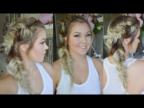 Double Fishtail Side Braided Hairstyle