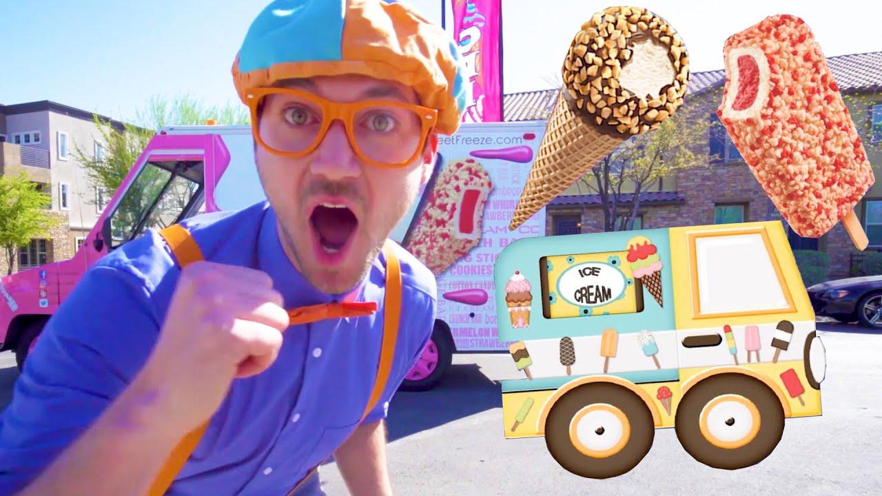 Blippi And The Ice Cream Truck 1 Hour Of Blippi Videos Educational Videos For Toddlers Blippi Youtube