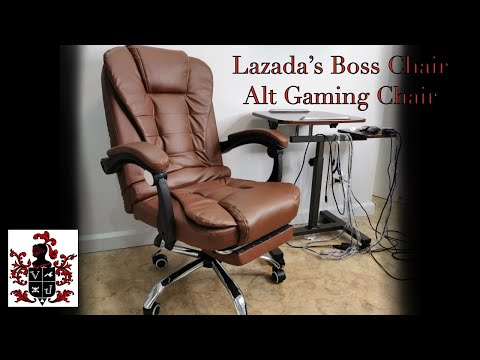 Unboxing And Review Of Lazada S Boss Chair An Alternative Gaming Chair Youtube