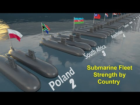 Submarine Fleet Strength by Country 2021  Countries  Submarines Comparison  3D Animated Video