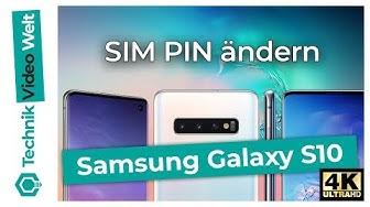 Samsung Galaxy S10 SIM PIN ändern