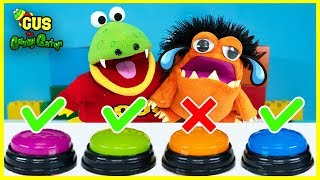 DON'T Push The Wrong Button Challenge with Gus the Gummy Gator