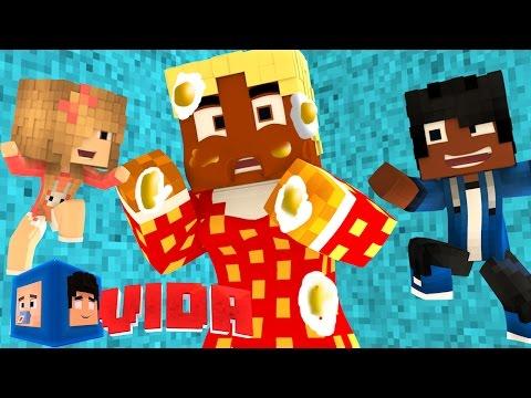 Minecraft Vida: PEGADINHA COM A BABA !! #74