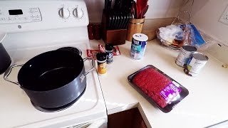 Cooking with Angel while Crystal goes shopping!