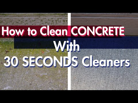 How to Clean Concrete Without A Pressure Washer