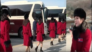 North Korea's 'Army of Beauties' arrives in South Korea ( Olympic 2018 )