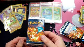 Pokemon 1st Edition Base Set Unboxing #3 - DA IST DAS DING! 10 Glurak Packs!