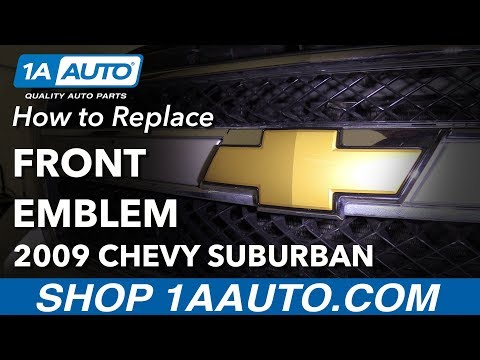 How to Replace Front Emblem 07-13 Chevrolet Suburban