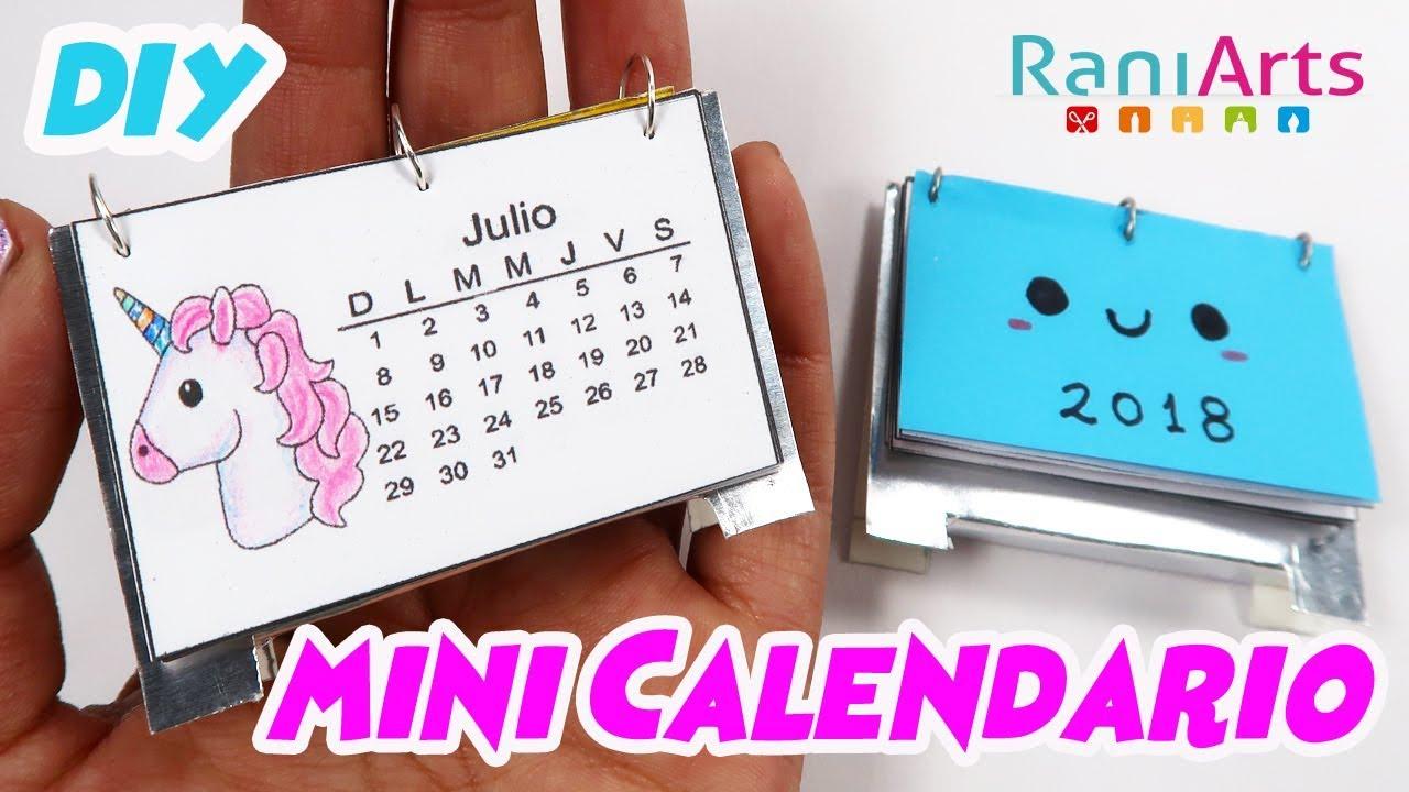 Haz un Mini Calendario 2018! Fácil - DIY Mini Calendar! - YouTube