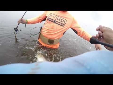 Wade Fishing For Speckled Trout-Sabine Lake,TX