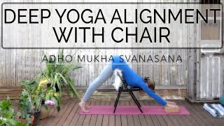 Chair Yoga Practice: Alignment & Depth.  44 min. Int. CdR. OYT  #chairyoga #yoga
