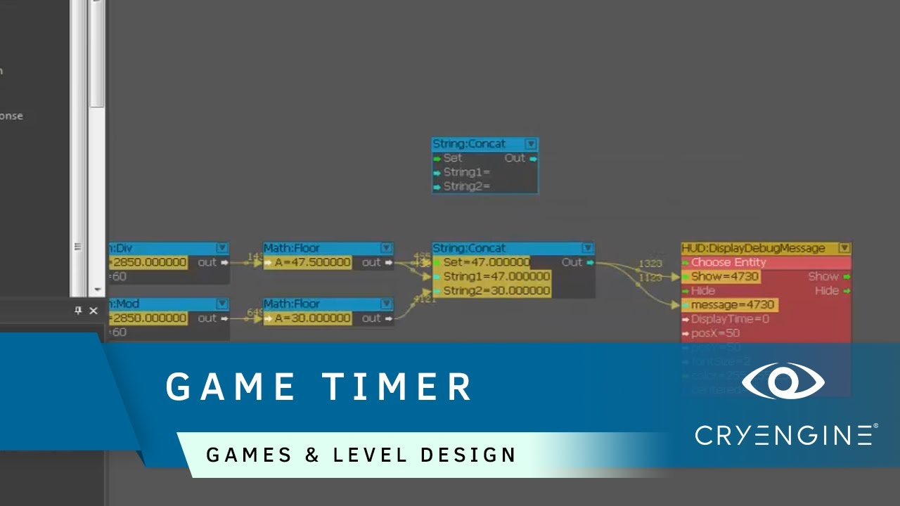 How To Create A Game Session Timer In Cryengine Game Level